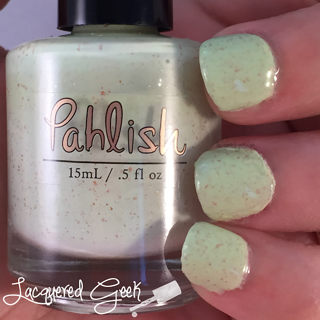 Pahlish Sunless Sea nail polish swatch by Lacquered Geek