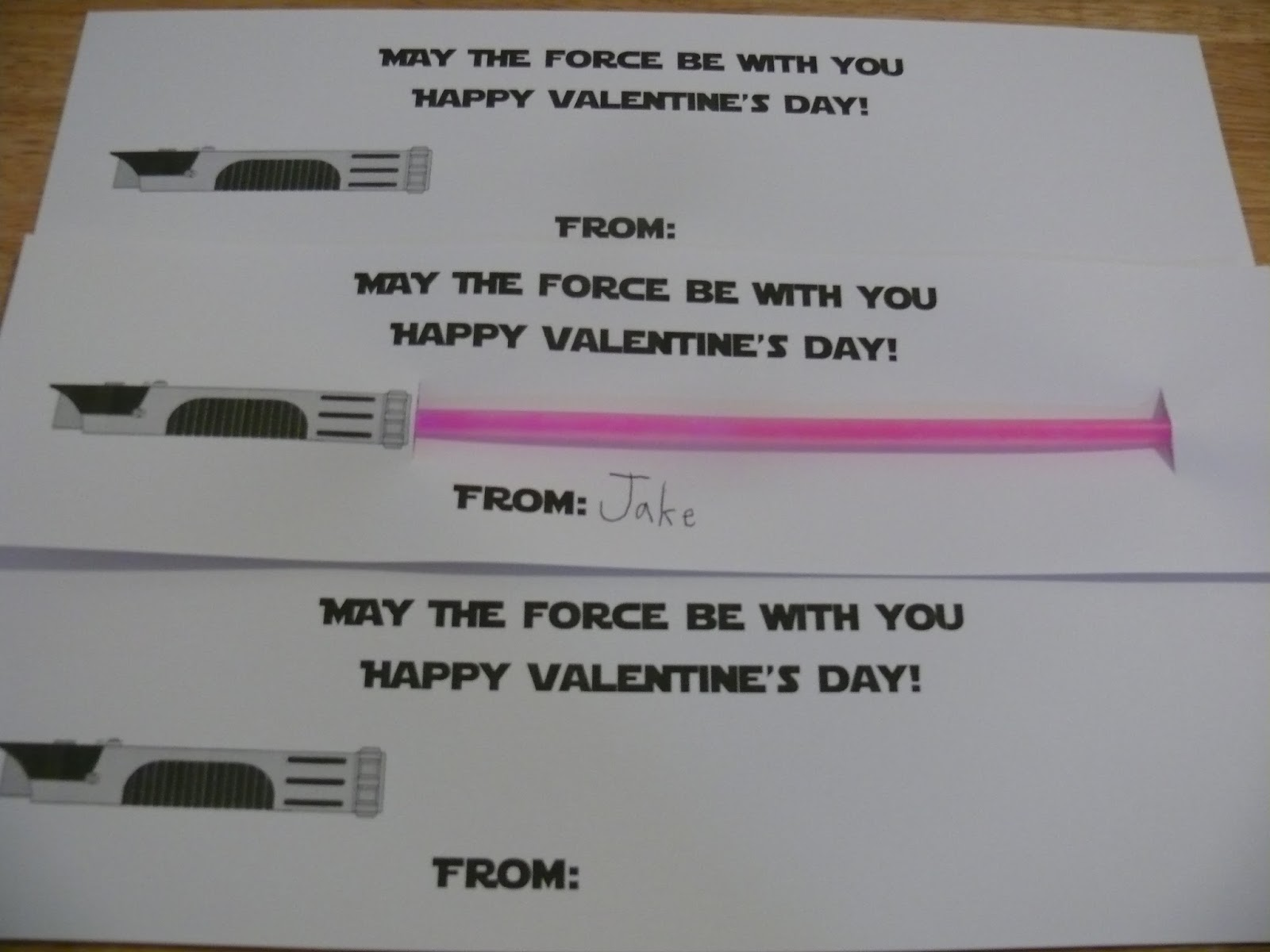 Sweet image regarding lightsaber valentine printable
