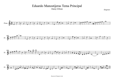 diegosax partituras publica tus partituras Eduardo Manostijeras de Danny Elfman Partitura para flauta, saxofón y cualquier intrumento melódico. Sheet Music Flute Edwards Scissorhands Music Score OST