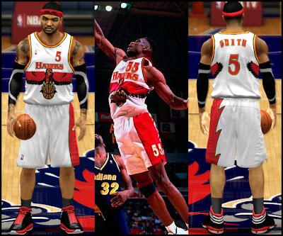 NBA 2K13 Atlanta Hawks 1996-1997 Retro Home Jersey