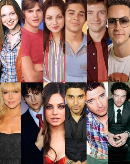 That 70's show. Antes y después.
