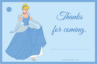 cinderella thank you card