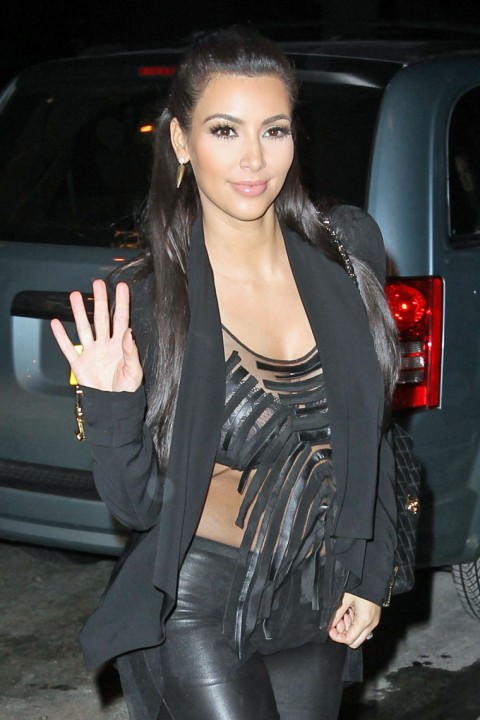 Dancers, This Is What Kim Kardashian Wore To The Bowling Alley Last Night