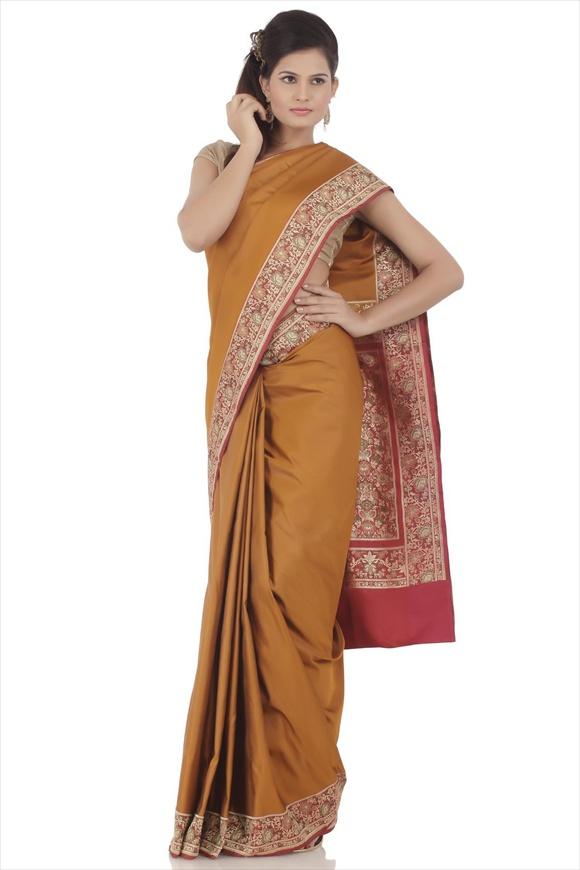 Amber Art Kattan Silk Banarasi Saree