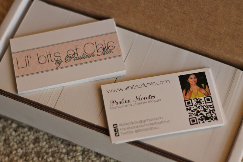 My fashion blogger business cards lil bits of chic by paulina mo why have a business card for a blog you ask colourmoves