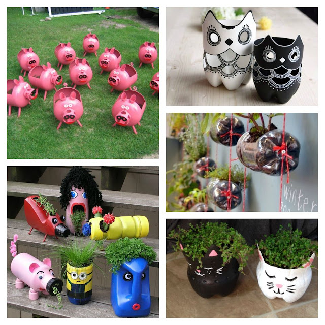 45 Crafts made of plastic bottles for the garden