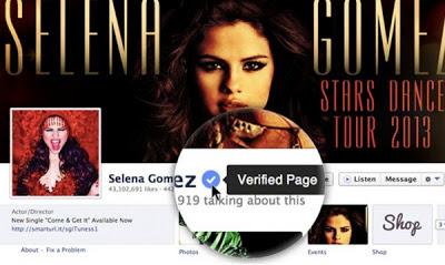 """Facebook incluye botón de """"Cuentas Verificadas"""""""