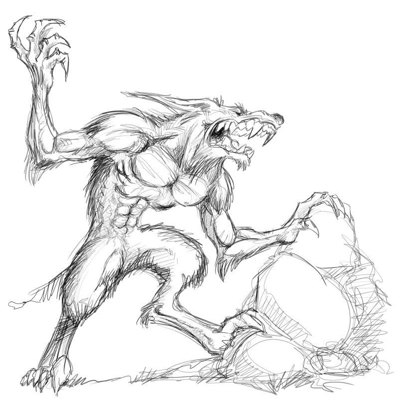 Stef comics mai 2013 - Dessin loup garou ...