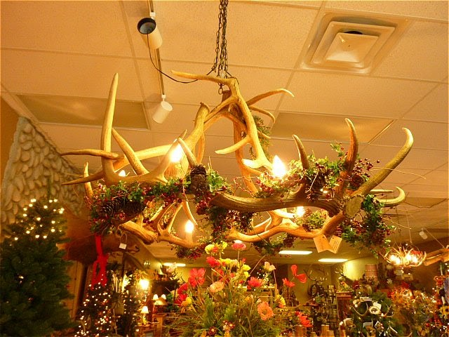 decorating my tin shack antler chandelier