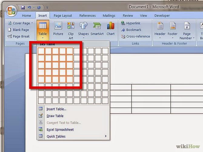 Как в microsoft office word 2007 сделать таблицу