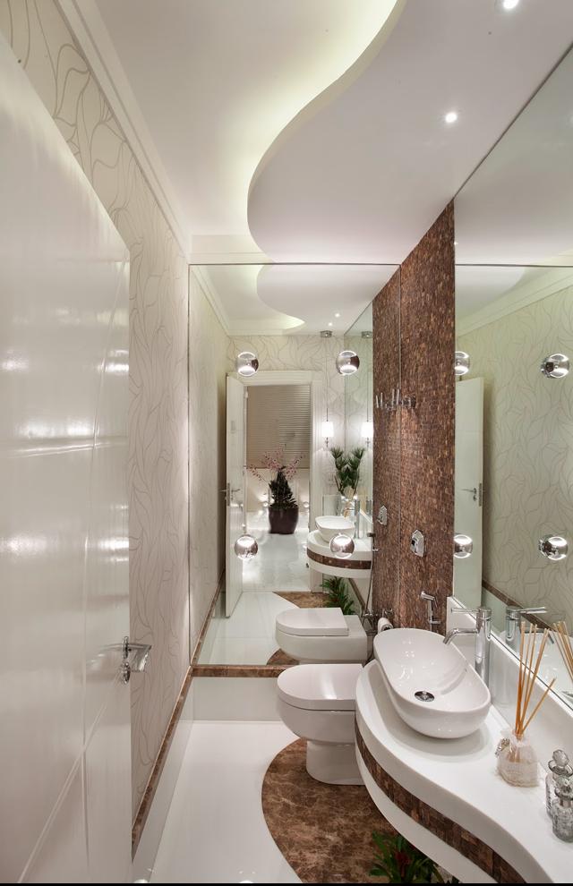 Mármore em lavabos e banheiros – veja bancadas e pisos com diversos tipos de  -> Banheiros Modernos Pisos