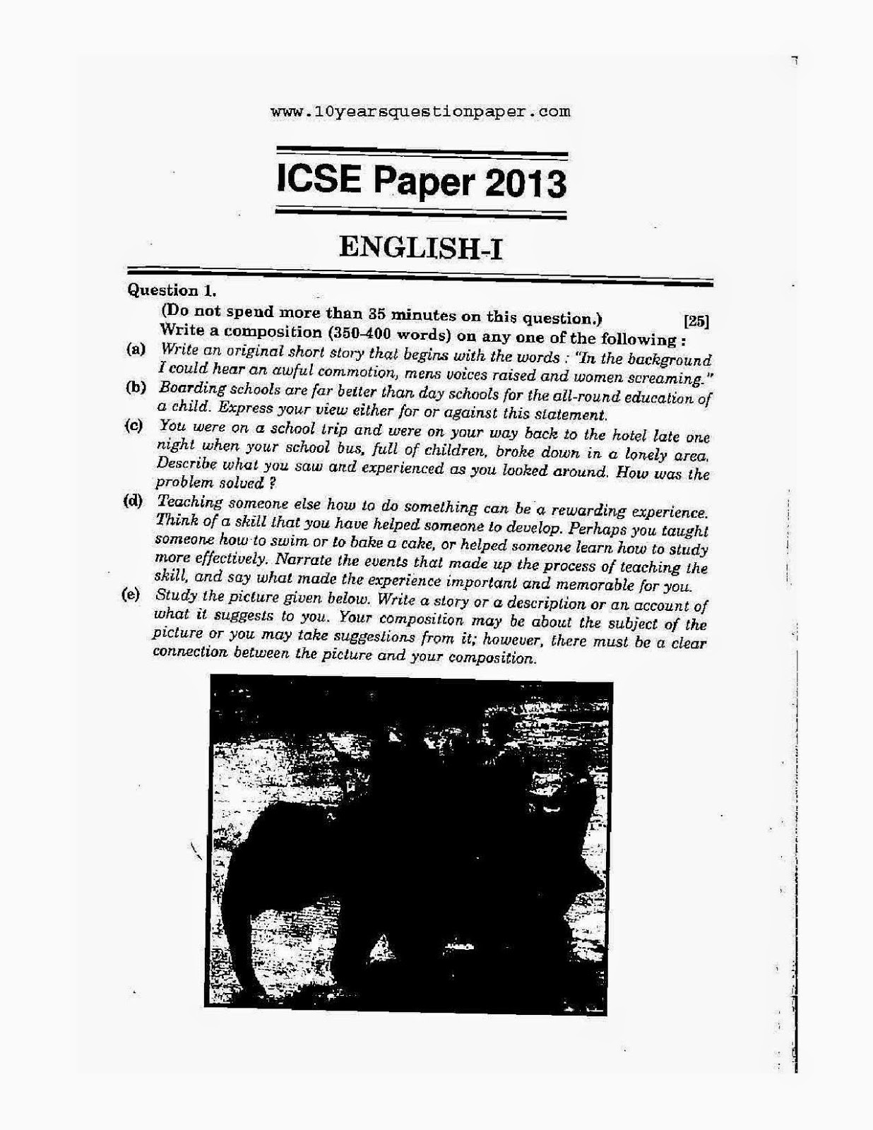 download icse 2013 geography question paper