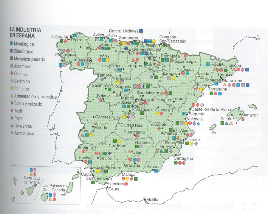 Tus ciencias sociales 471 la industria espa ola sectores - Empresas de construccion en madrid ...
