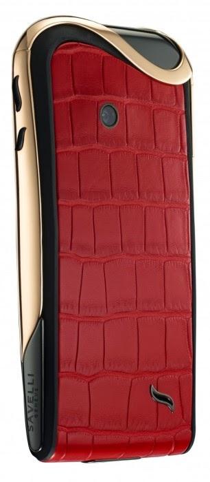 Smartphone de luxo para mulher em vermelho