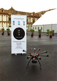Tecnología Dron en una demostración en la Feria Smart Rural, Fimart