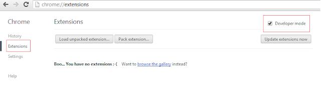 การติดตั้งส่วนขยายใน Chrome