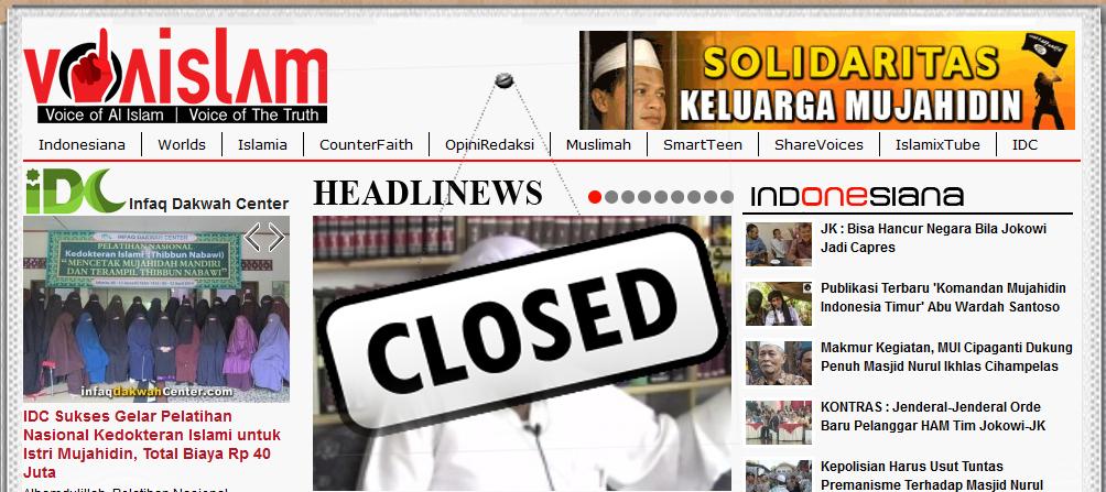 Situs VOA-ISLAM.COM Wajib Ditutup Sebarkan Berita Bohong