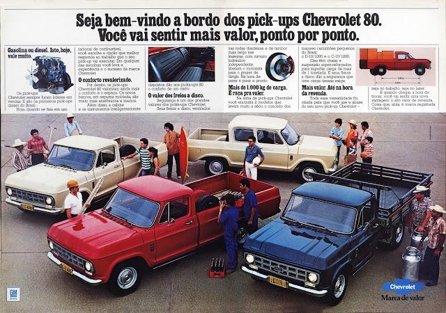 propaganda pick-ups Chevrolet - 1979. Chevrolet pick-ups announced - 1979