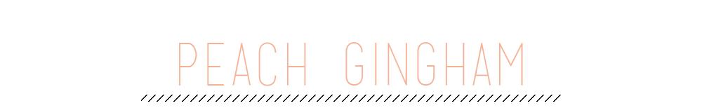Peach Gingham