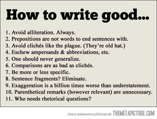 How to Write Good #NaNoWriMo