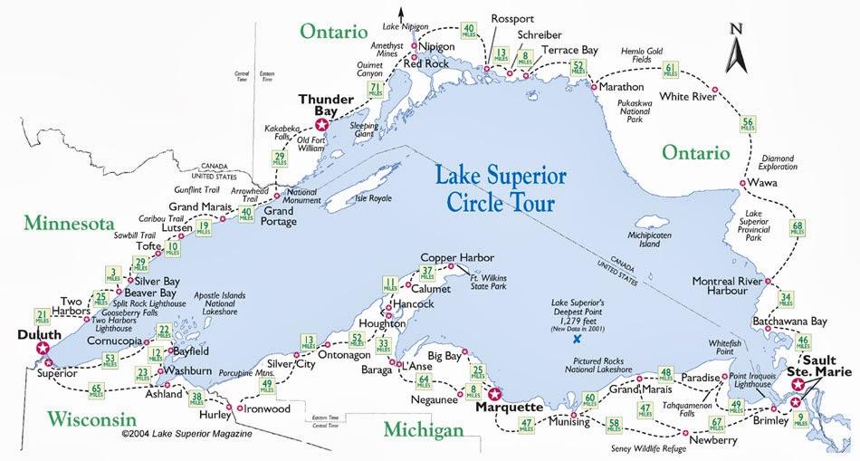 Ohio Thoughts Lake Superior Circle Tour Canada - Lake michigan circle tour map
