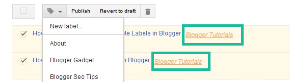 Add New Label in Blogger