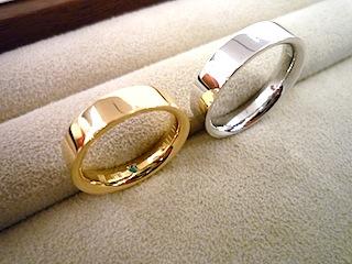 銀座オーダージュエリーサロンでは結婚指輪(マリッジリング)に希少な石入れも叶えてもらいました。