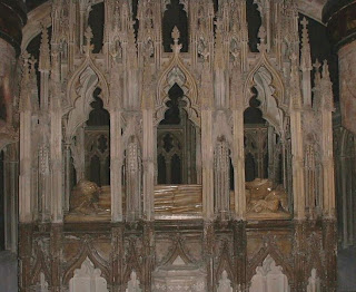 Tomb of King Edward II in Gloucester Cathedral