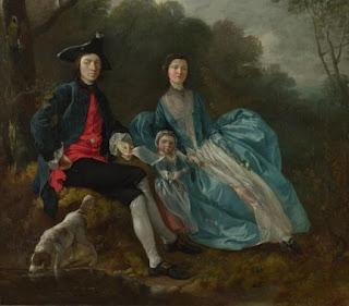 Thomas Gainsborough - portrait de l'artiste,de sa femme et de sa fille