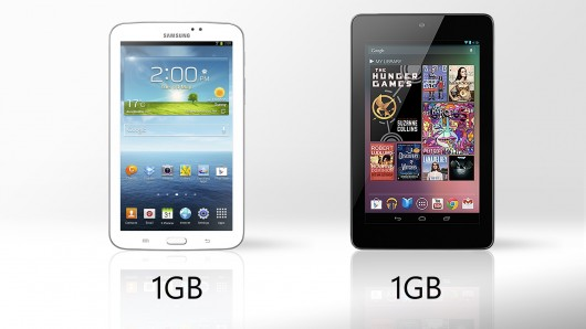 Galaxy Tab 3 vs. Nexus 7 RAM