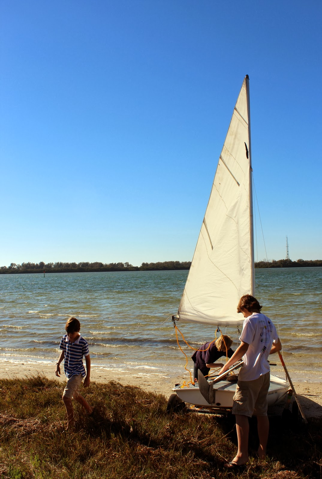 Pop Up camping and Butterfly Sailboat at Fort De Soto Park, St. Petersburg, FL