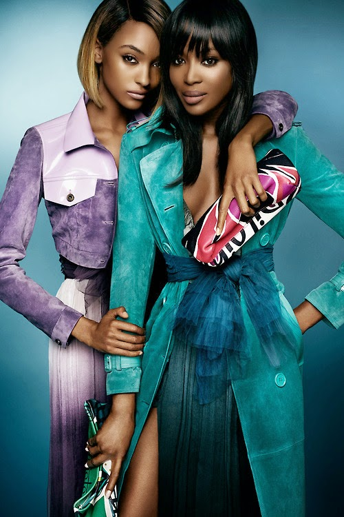 Naomi Campbell & Jourdann Dunn for Burberry