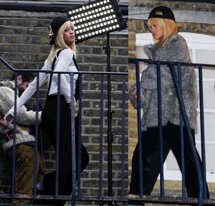 #rumors: Rihanna spotted in London record... Her next music video (photos)?