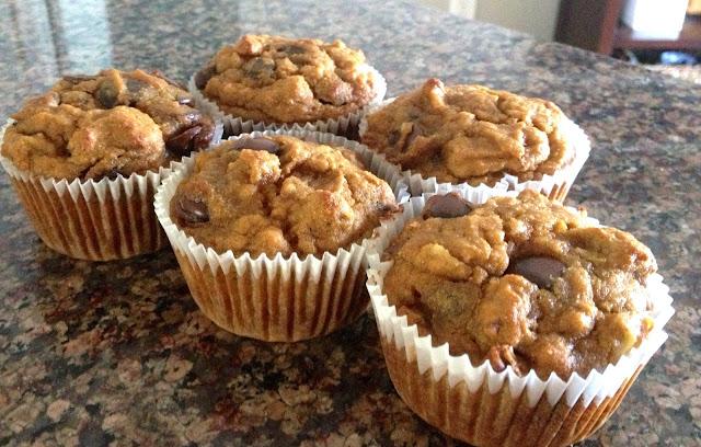 Gluten free chunky monkey muffins