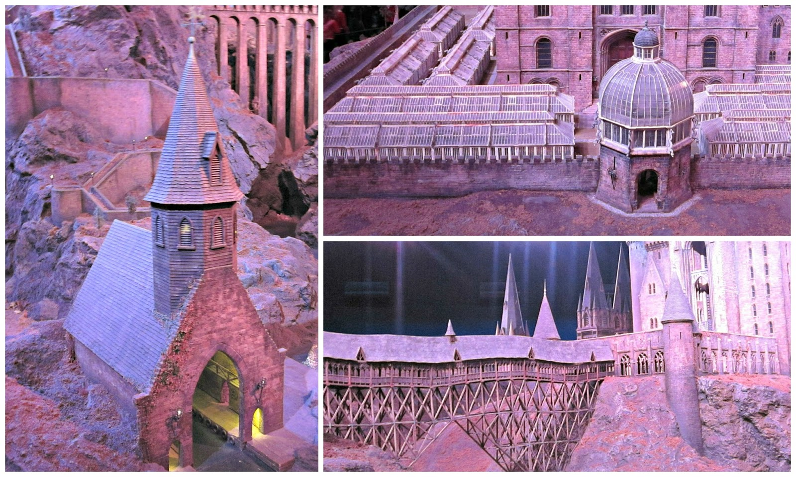 Hogwarts close ups at The Making Of Harry Potter Warner Brothers Studio Tour