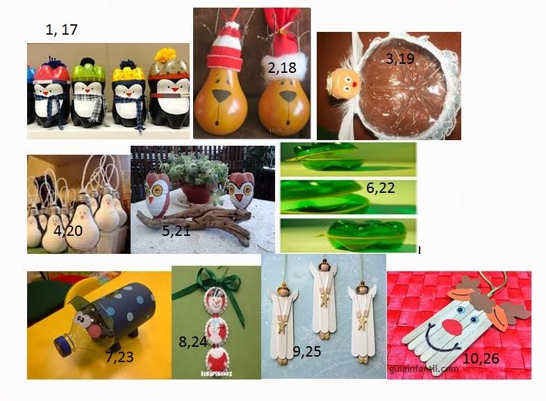 Grupo 1 c telesecundaria 257 manualidades con material for Manualidades para diciembre