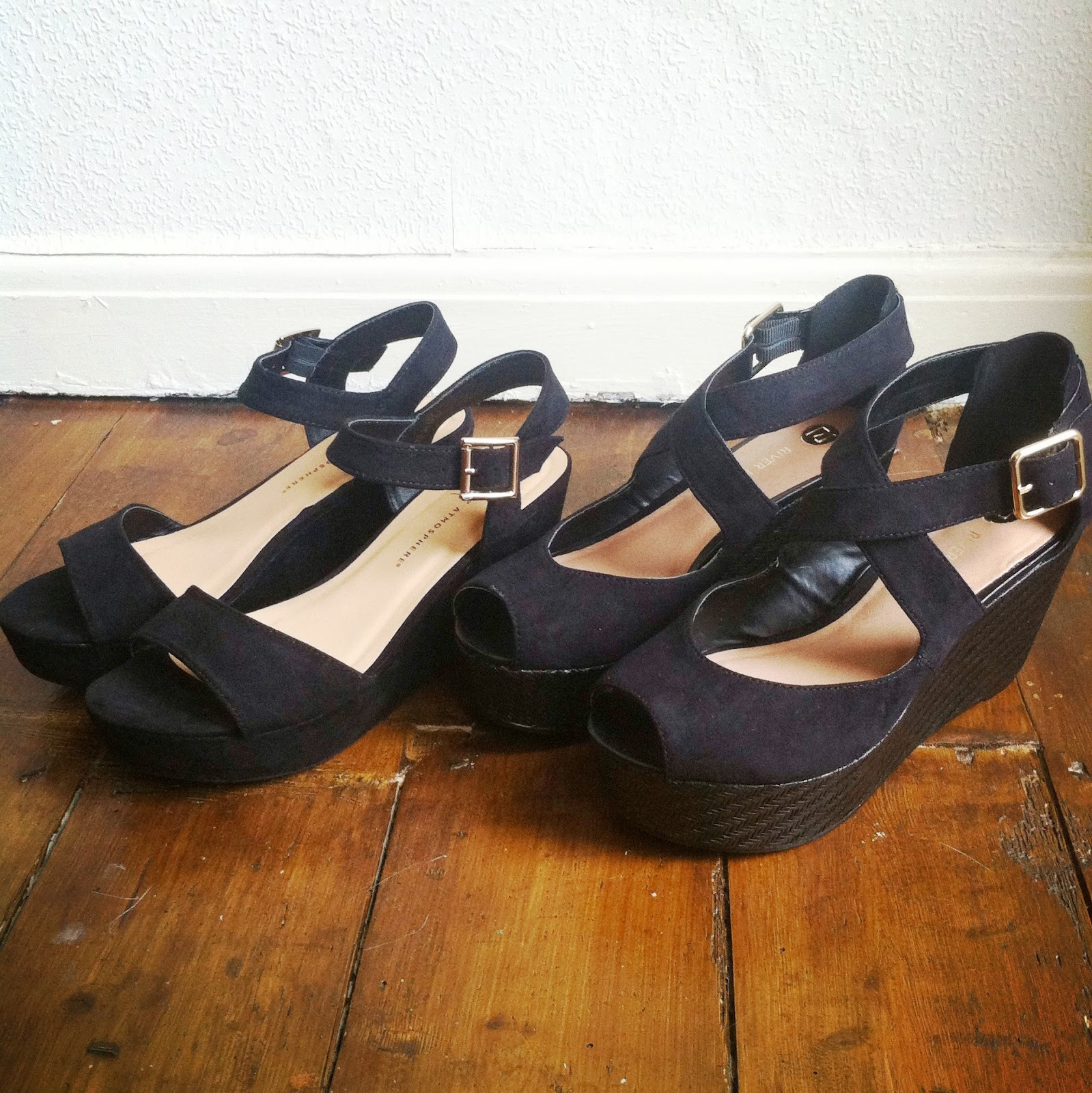 Black sandals primark