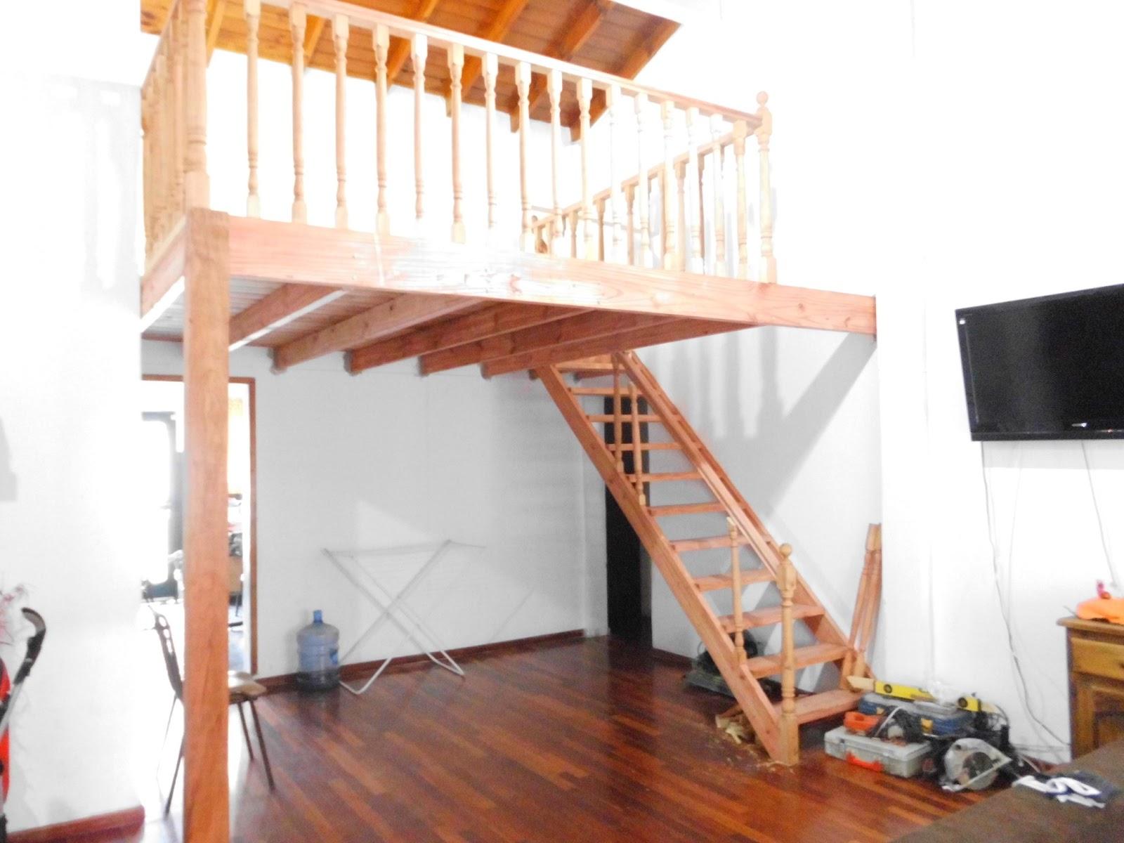 Entrepisos de madera escaleras entrepiso con balautres for Escalera de madera para entrepiso