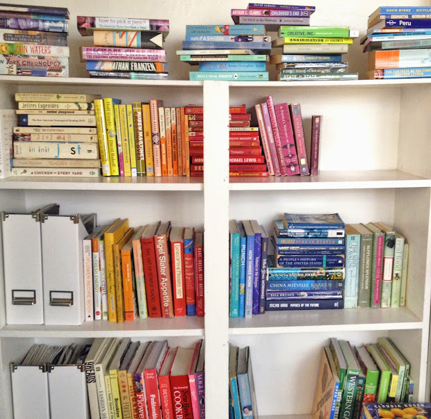 How To Organize Bookshelf Rainbow