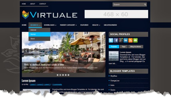 Virtuale, una plantilla de calidad para Blogger