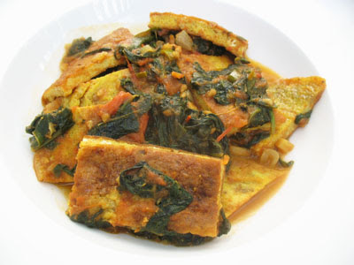 spinach omelette curry