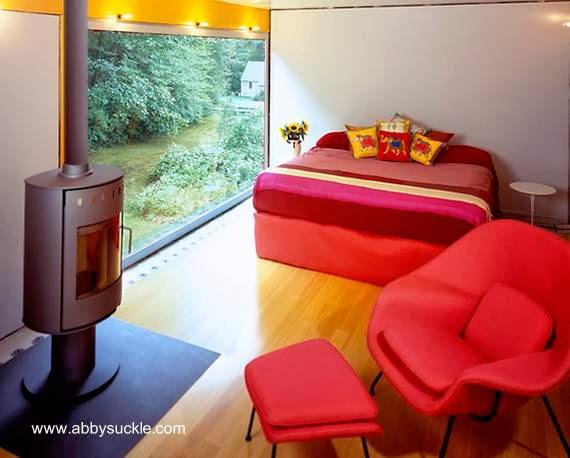 Habitación dormitorio en casa Mid Century americana renovada