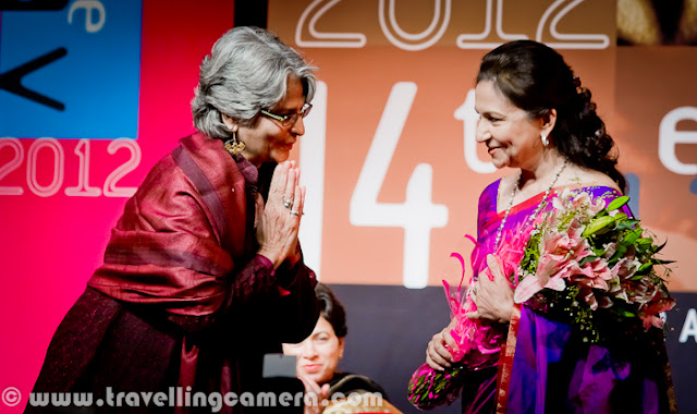 On 8th January'2012, Sharmila Tagore was there in Kamani Auditorium as Guest of Honor for inaugural ceremony of 14th Bharat Rang Mahotsav. Bharangam is one of the popular theatre festival of India and considered as biggest festival in Asia. National School of Drama organize this festival with support fro Ministry of Culture. Kumari Selja was also present during the ceremony, which is MInister of Culture, India. Theatre groups from various parts of world are invited to present their work and experiments done in the field of Theatre. Various plays will be shown during Bharat Rang Mahotsav - 8th Jan to 22nd Jan 2012 !!!