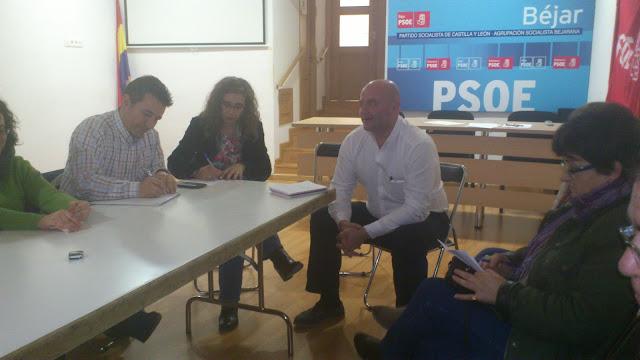 Reunión en la sede de los Socialistas