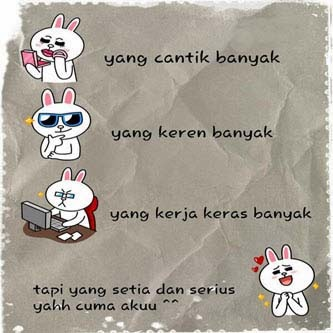Display Picture DP bbm Line lucu brown and cony