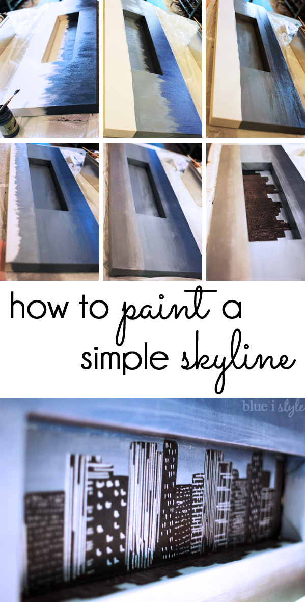 How to Paint a Quick and Easy Skyline