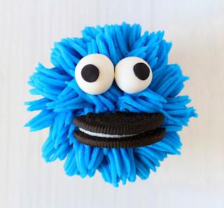 cupcake monstruo de las galletas