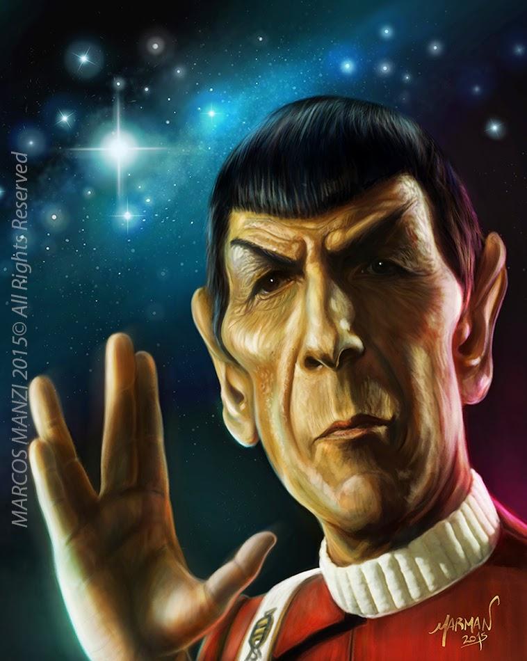 Caricature Spock (Leonard Nimoy)