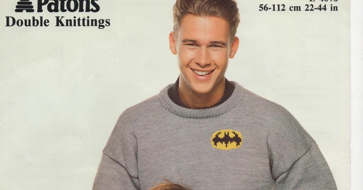 Hello Naka: Batman Jumper Knitting Pattern