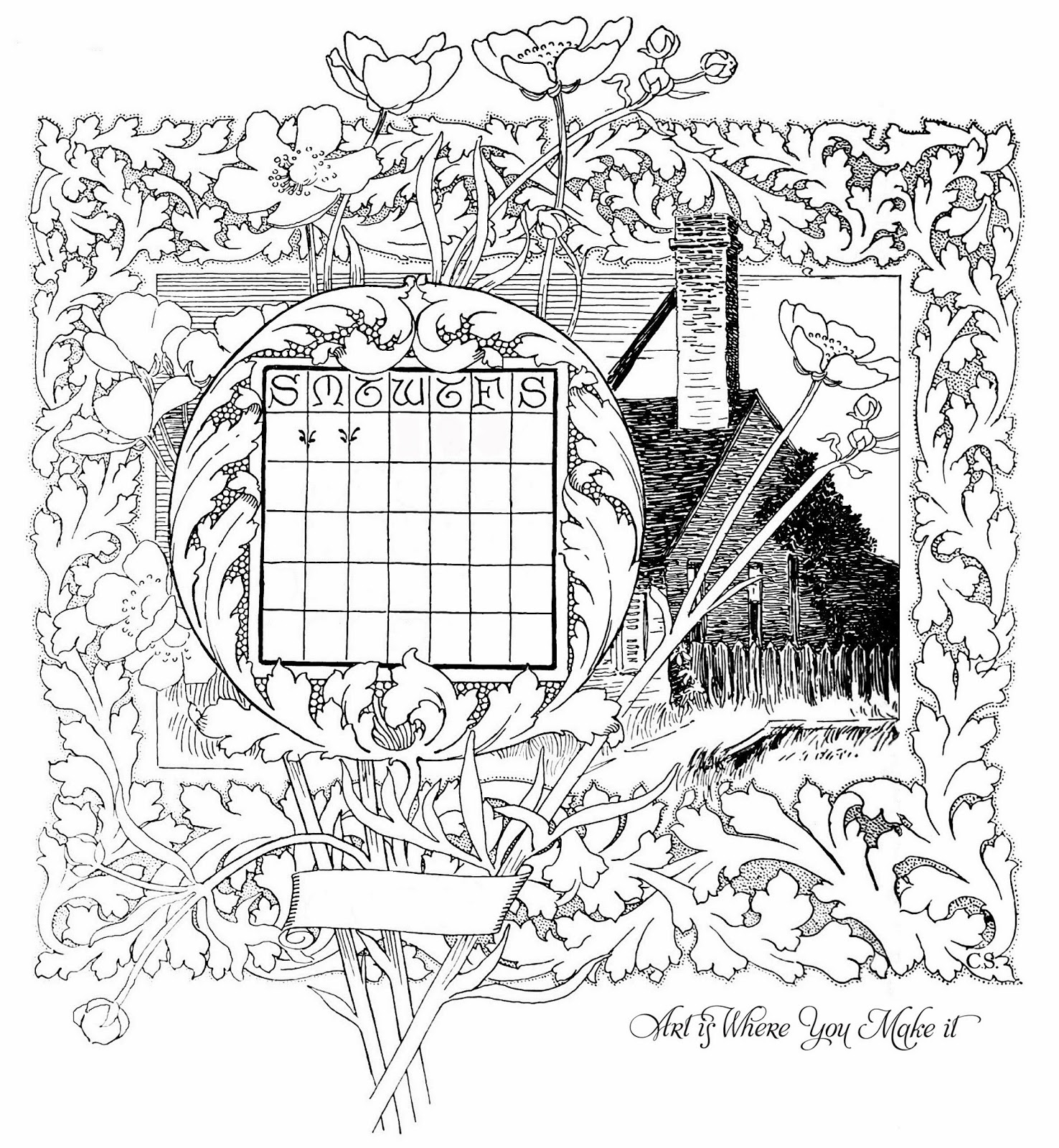 Calendar Drawing Ideas : Crafty secrets heartwarming vintage ideas and tips free